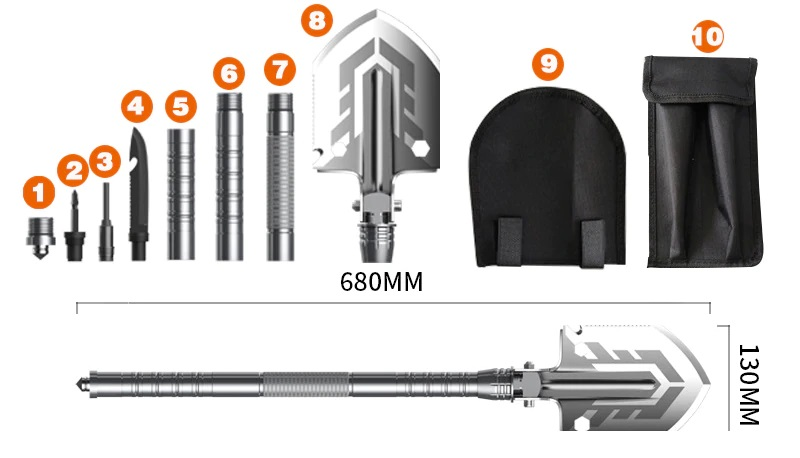 Outdoor-Schaufel, Multifunktions-Werkzeug