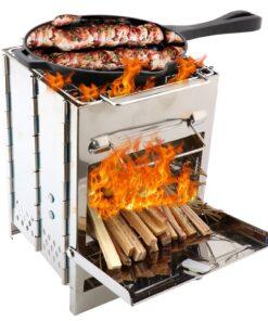Camping Zubehör, Grill BBQ, Outdoor-Grill Zusammenklappbar, tragbarer Mini-Grill Ofen