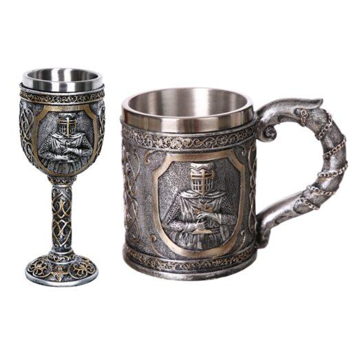 Mittelalter Becher und Kelch Produkte im Mittelalter-Shop Schweiz, Ritter-Pullover, Ritterrüstung, Mittelalter-Schwert im schweizer Onlineshop survivo.ch