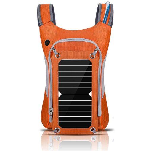 Outdoor Wander-Rucksack mit Solarpanel Solarzelle und USB Anschluss