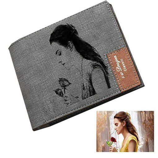 Brieftasche mit eigenem Foto drucken gravieren