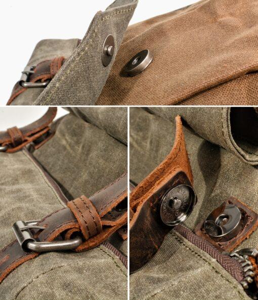 Wanderrucksack, Leder, Vintage, Militärrucksack