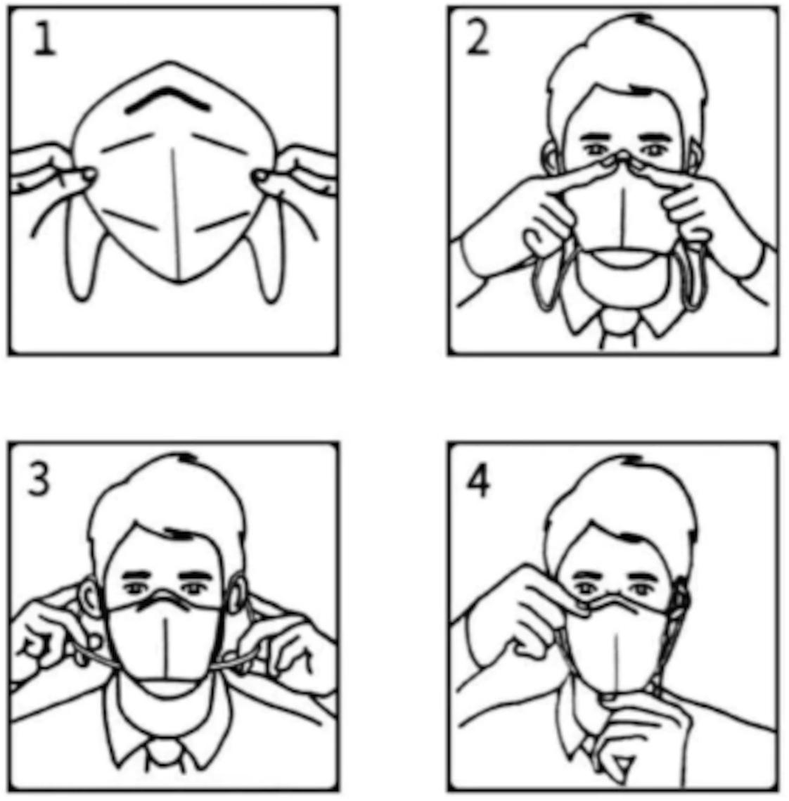 Viren Schutzmaske korrekt anlegen