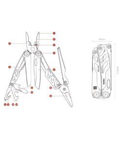 Multitool Multifunktionale Zange mit Messer