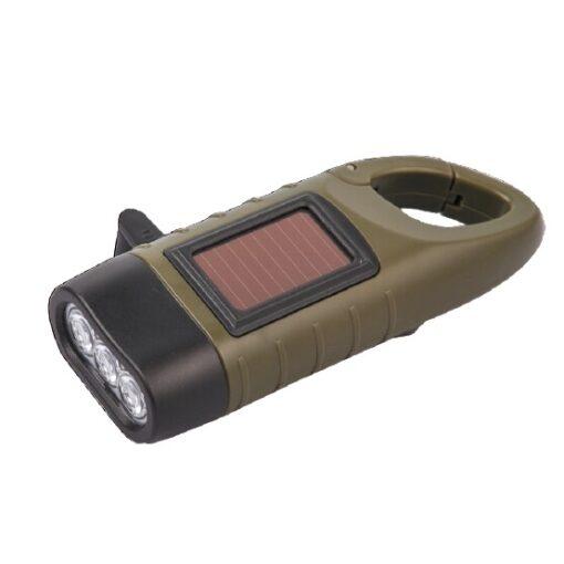 Kurbel-Taschenlampe mit Solar
