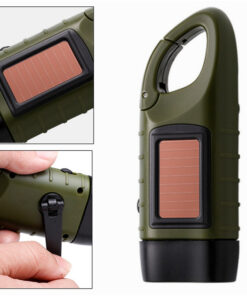 Kurbel Taschenlampe mit Solar Schweiz