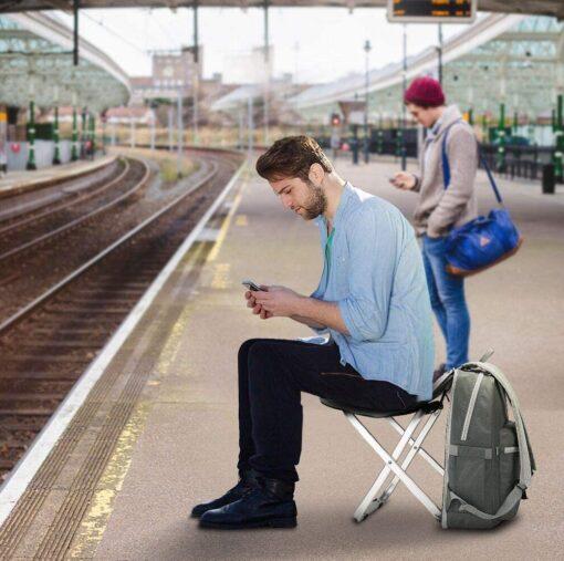 Sitz-Rucksack Stuhl, Rucksack mit ausklappbarem Stuhl für Camping, Freizeit