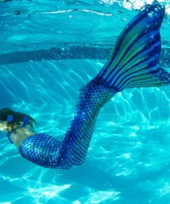 Meerjungfrauflosse Anzug Mädchen Mermaid Schwimmanzug für Mädchen
