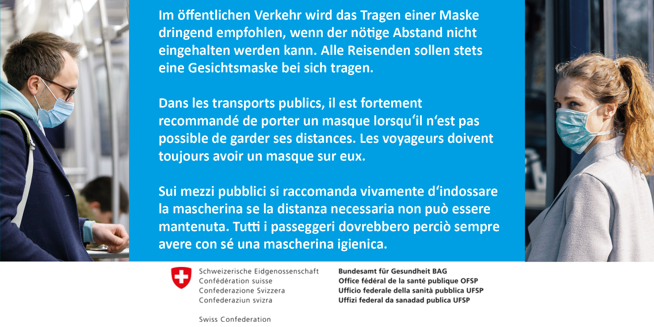 Masken Empfehlung BAG Schweiz