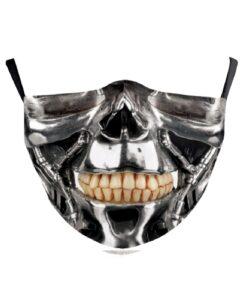 Stoffmaske mit 3D-Mund Gesichtsmaske Terminator kaufen