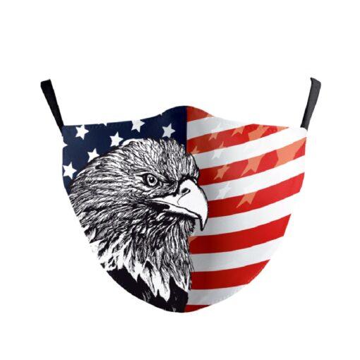Stoffmaske amerikanische Fahne mit Adler