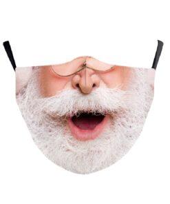 Stoffmaske mit echtem Gesicht 3d-Druck Gesichtsmaske Nikolaus