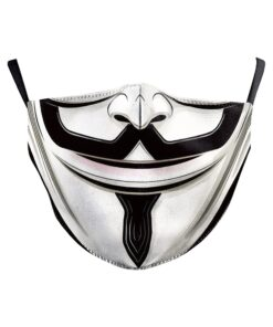 Mundschutz Stoffmaske mit Druck Anonymous Guy Fawkes Schweiz