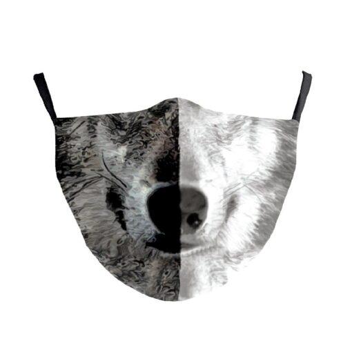 Gesichtsmaske Stoffmaske Gesichtsmaske mit Wolf