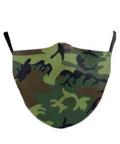 Stoffmaske mit Tarnfarbe Armee Militär-Sujet Druck kaufen