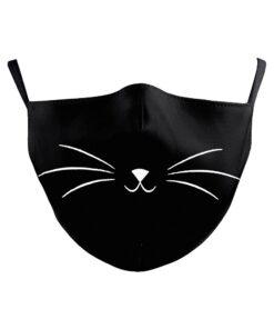 Stoffmaske mit 3D-Druck Katze