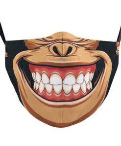 lustige Stoffmaske mit Druck Affe Mund Schweiz