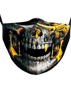 Stoffmaske mit 3D Sujets Druck Halloween Gesichtsmaske Hygienemasken Schweiz