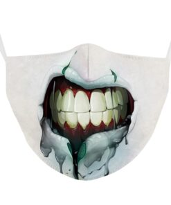 Stoffmaske mit 3d Druck Halloween Gesichtsmaske Mundschutz kaufen Schweiz