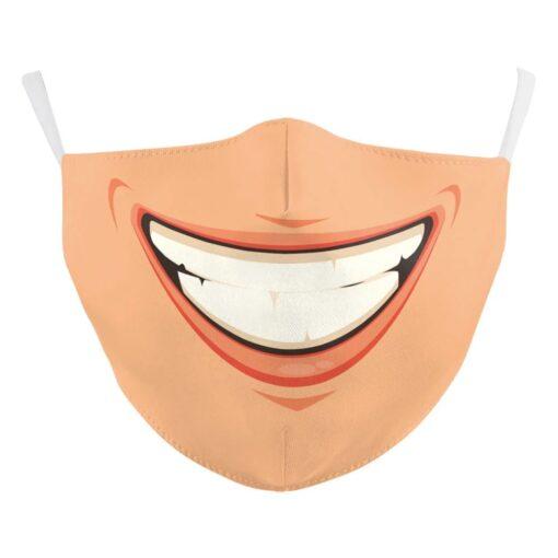 Mundschutz Gesichtsmaske mit Smiley Cartoon Grinsen Schweiz