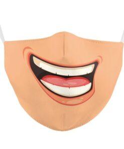 Mundschutz mit Smiley Druck Schweiz