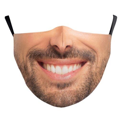 Stoffmaske mit echtem Gesicht 3d-Druck Gesichtsmaske