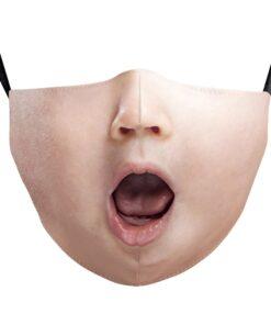 Stoffmaske mit Damengesicht 3d-Druck Gesichtsmaske fashionmaske kaufen