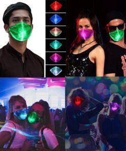 Mundschutz Maske mit Led