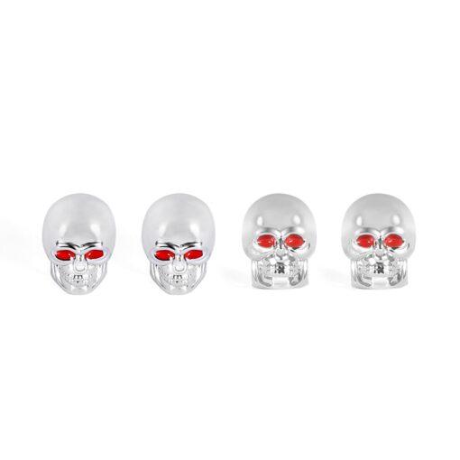 Ventilkappen Totenkopf Silber