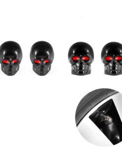 Ventilkappen Totenkopf Schwarz kaufen