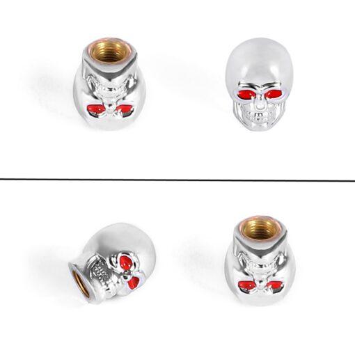 Ventilkappen Totenkopf Silber kaufen