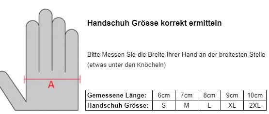 Motorrad Handschuh Grössentabelle