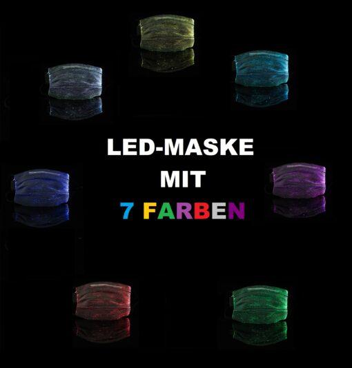Mundschutz Hygienemaske Atemschutz-Maske mit LED beleuchtung kaufen schweiz