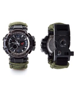 Survival Paracord Uhr 8-in1 multifunktionale Uhr