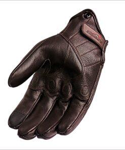 Leder Motorrad Handschuh Braun