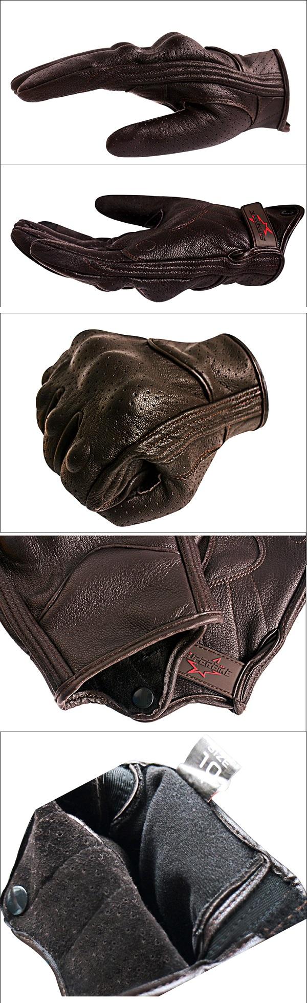 Brauner Leder Motorradhandschuh kaufen schweiz