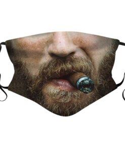 Stoffmaske mit Cowboy Sujet
