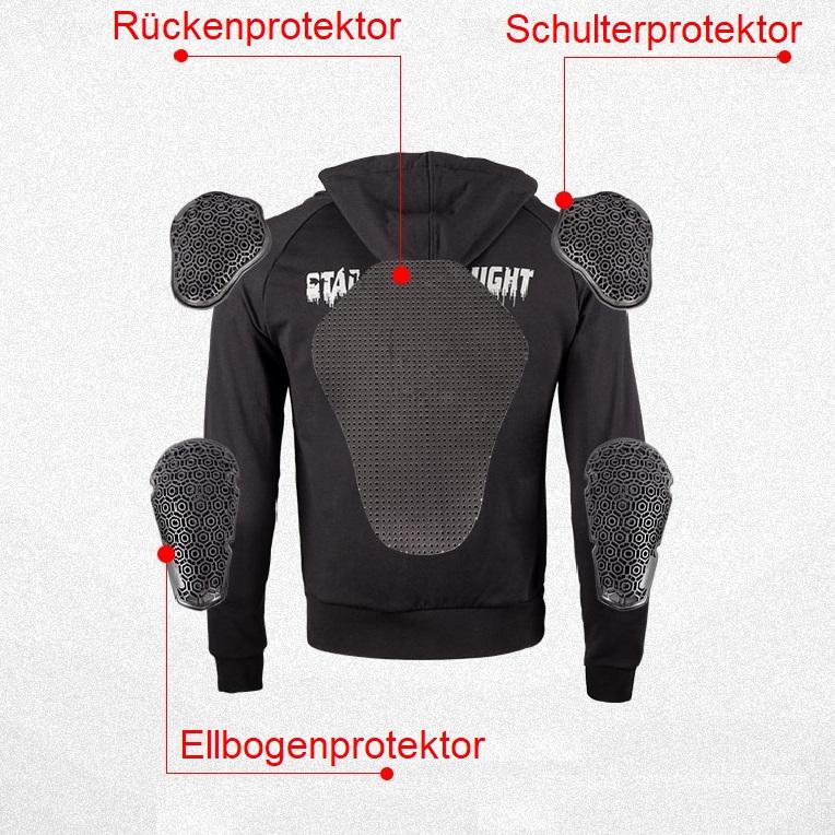 Motorrad Hoodie mit Protektoren günstig kaufen Schweiz