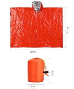 Notfall Regenponcho Orange