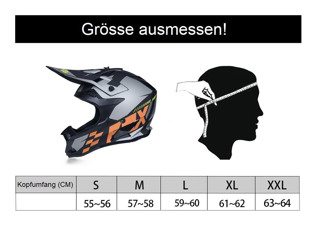Motorrad Helm korrekte Grösse messen
