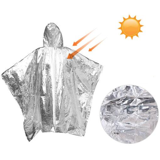 Notfall Poncho Aluminium Folie