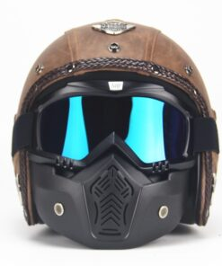 Chopper Motorradhelm braun