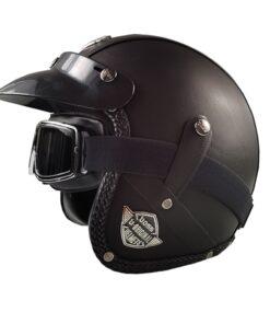 Motorrad Helm Chopper Schwarz