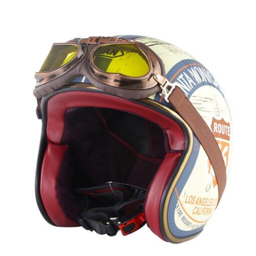 Chopper Helm Vintage mit Brille Schweiz