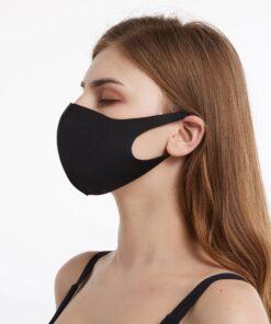 Schlichte Schwarze Stoffmasken kaufen Schweiz
