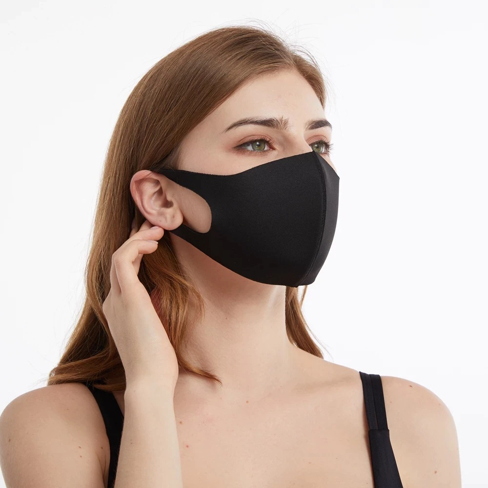 Schlichte Schwarze Stoffmaske