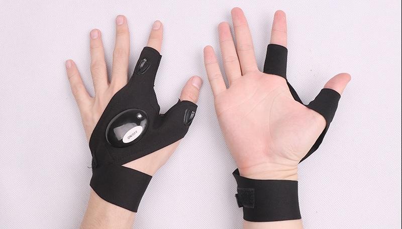 Handschuh Finger Taschenlampe