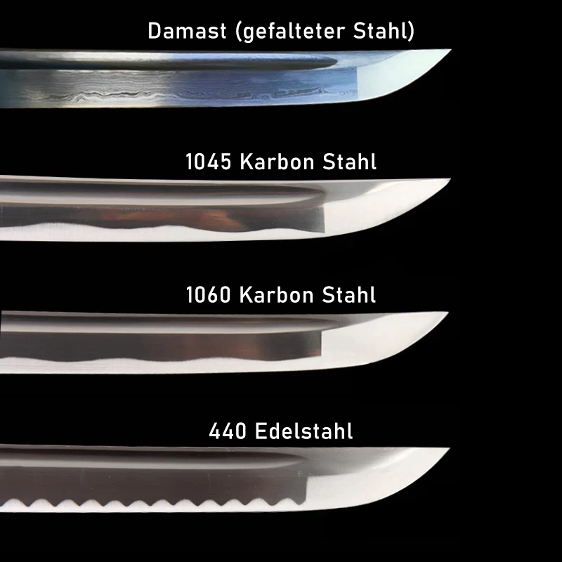 Katana Damast Stahl Auswahl