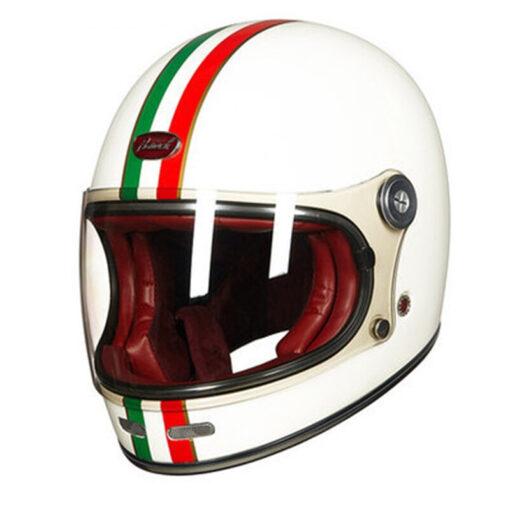 Alte Retro-Vintage Motorrad Helme
