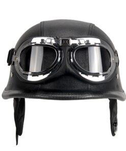 Chopper Halb-Helm mit Brille